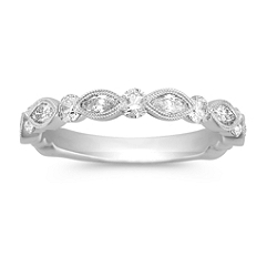 Marquise and Round Diamond Anniversary Band