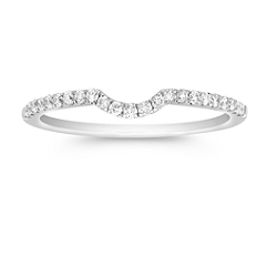 Round Diamond Coutour Wedding Band