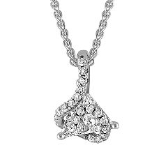 Trillion and Round Diamond Pendant (18 in.)