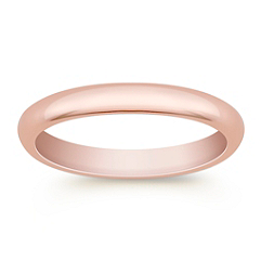 14k Rose Gold Comfort Fit Wedding Band (3mm)