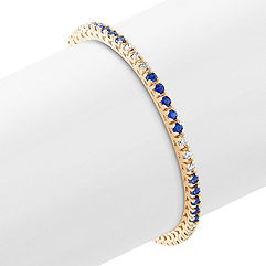 Round Sapphire and Diamond Tennis Bracelet (7)