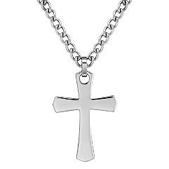 Stainless Steel Cross Necklace (24 in.)