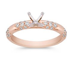Cathedral Diamond Rose Gold Engagement Ring