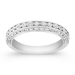 3/8 Round Diamond Anniversary Band
