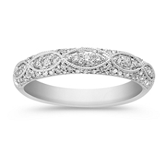 Diamond Vintage Wedding Band