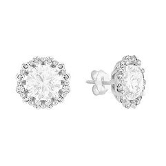 5/8 ct .t.w. Round Diamond Earring Jackets