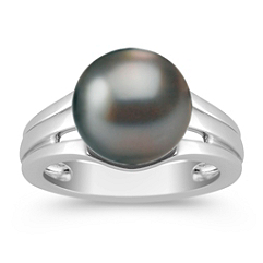 10mm Cultured Tahitian Pearl Ring