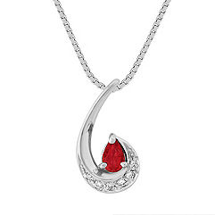Pear Shaped Ruby and Diamond Pendant (18)