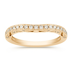 Contour Diamond Anniversary Band with Pave Setting