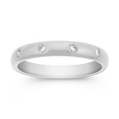 Diamond Bezel Set Wedding Band