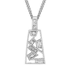 Trapezoid, Princess Cut, Baguette and Round Diamond Pendant (18 in.)