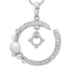 4mm Cultured Freshwater Pearl and 1/5 ct. t.w. Round Diamond Pendant (18 in.)