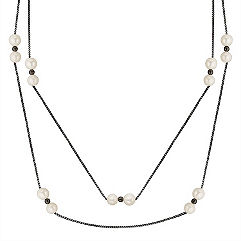 6mm Cultured Freshwater and Sterling Silver Necklace (36 in.)