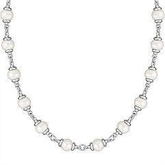 9MM Cultured Freshwater and Sterling Silver Necklace (30 in.)
