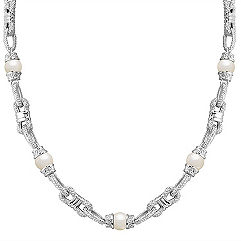 9mm Cultured Freshwater Pearl and Sterling Silver Necklace (24 in.)