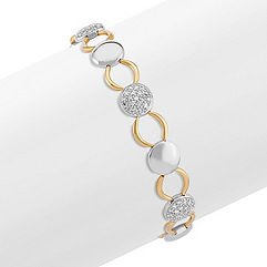 Round Diamond Bracelet in Two-Tone Gold (7.5 in.)