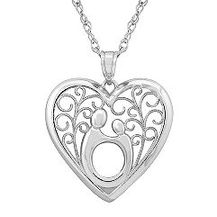 Sterling Silver Mother & Child® Pendant (18 in.) by Janel Russell