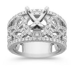 Halo Diamond Engagement Ring 1 ct. t.w. -