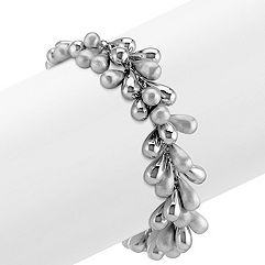 Beaded Sterling Silver Bracelet (8 in.)