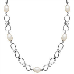 8.5mm Cultured Freshwater Pearl and Sterling Silver Necklace (30 in.)