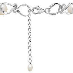 8.5mm Cultured Freshwater Pearl and Sterling Silver Bracelet (7)