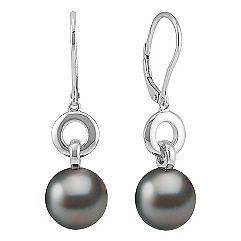 10mm Cultured Tahitian Pearl Earrings