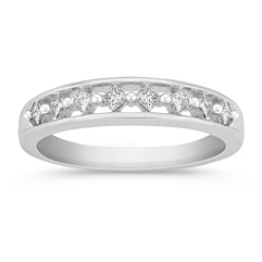 Princess Cut Eight-Stone Diamond Wedding Band
