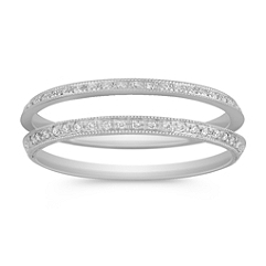 Vintage Diamond Double Anniversary Band