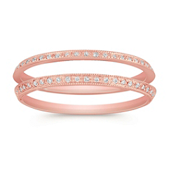 Vintage Diamond Double Anniversary Band in Rose Gold