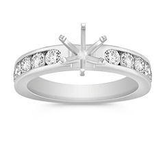Diamond Channel Set Engagement Ring