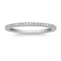 Platinum Diamond Anniversary Band with Pave Setting