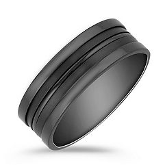 Black Titanium Comfort Fit Ring (8mm)
