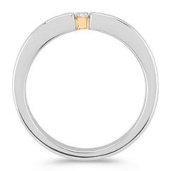 Round Diamond Ring in Two-Tone Gold for Him (6mm)