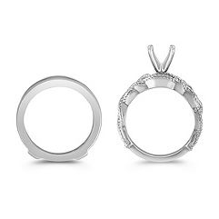 Distinct White Gold Wedding Set for Her