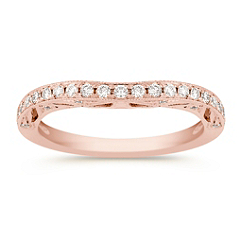 Contour Diamond Wedding Band in Rose Gold