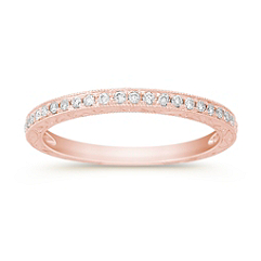 Pave Set Diamond Anniversary Band in 14k Rose Gold