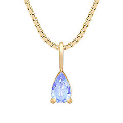 1/4 ct t.w. Pear Shaped Ice Blue Sapphire Pendant (18 in.)