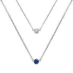 Round Multi-Colored Sapphire Necklace (18 in.)