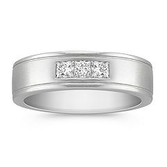 Princess Cut Diamond Band for Him