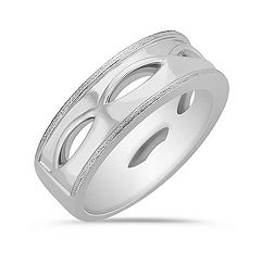 14k White Gold Ring for Him (7.5mm)
