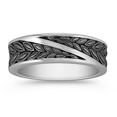 14k White Gold Ring for Him (6mm)