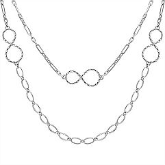 Sterling Silver Infinity Necklace (24)