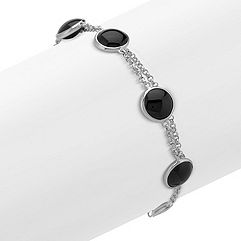 Black Agate and Sterling SIlver Bracelet (8)