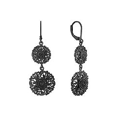 Black Vintage Sterling Silver Earrings