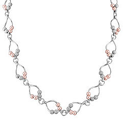 Sterling Silver Rose Beaded Necklace (22 in.)