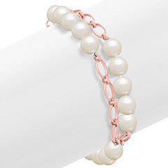 Pearl and Sterling Silver Bracelet (8) 8mm Freshwater