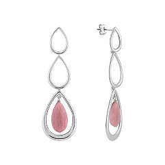 Blush Stone and Sterling Silver Earrings