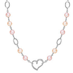 8mm Multi-Colored Cultured Freshwater Pearl and Sterling Silver Necklace (18 in.)