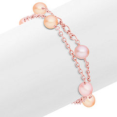 7mm Multi-Colored Cultured Pearl and Sterling Silver Bracelet (8 in.)