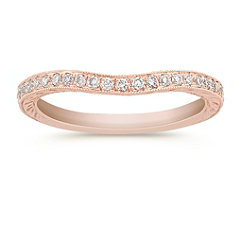 Round Diamond Contour Anniversary Band in Rose Gold
